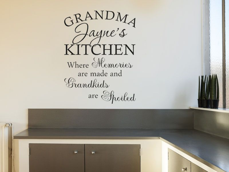 Personalised Grandma Nanna Kitchen Quote Modern Wall Art